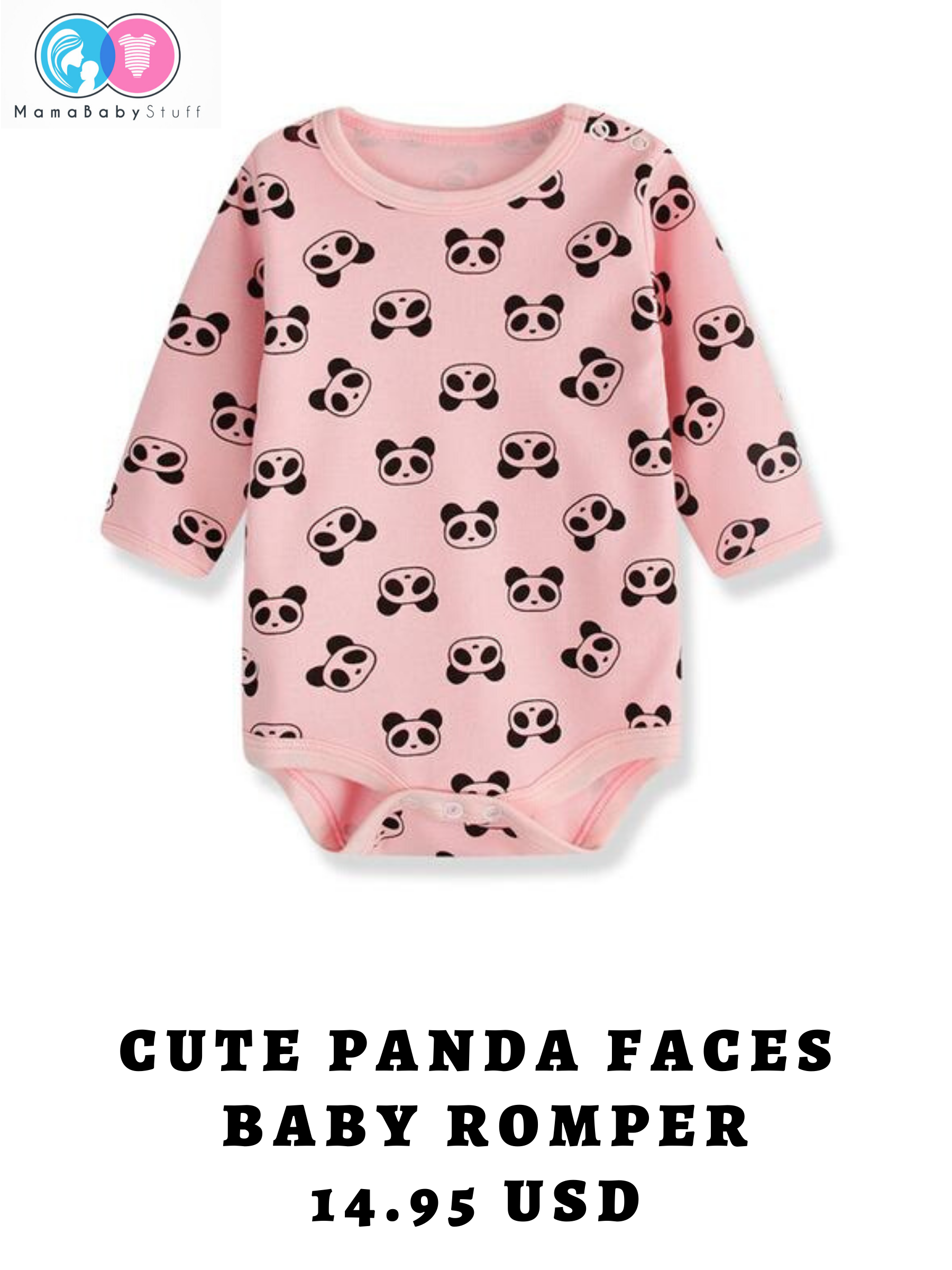 Cute Panda Faces baby Romper  Baby fashion newborn, Baby fashion