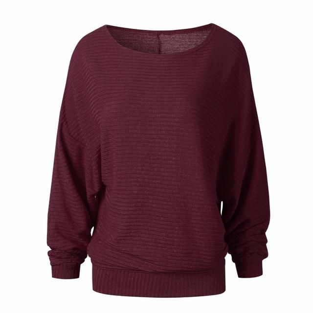 Women's Autumn - Winter Loose Long Batwing Sleeve Fashion Sweater