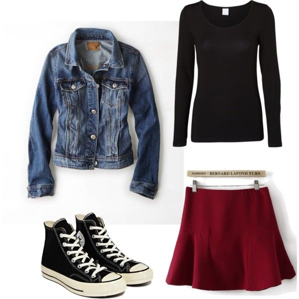 A fashion look from February 2015 featuring Vero Moda blouses, American Eagle Outfitters jackets and Converse sneakers. Browse and shop related looks.