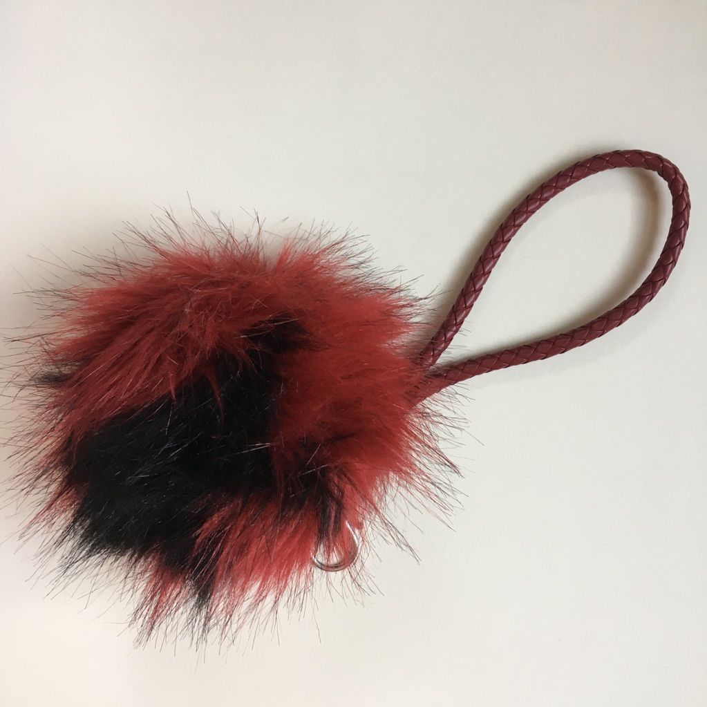Fluff ball keychain fluff things to sell key card holder