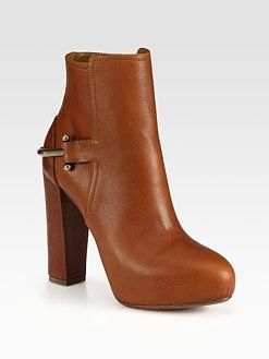 Ralph Lauren Collection - Teri Leather Saddle Ankle Boots