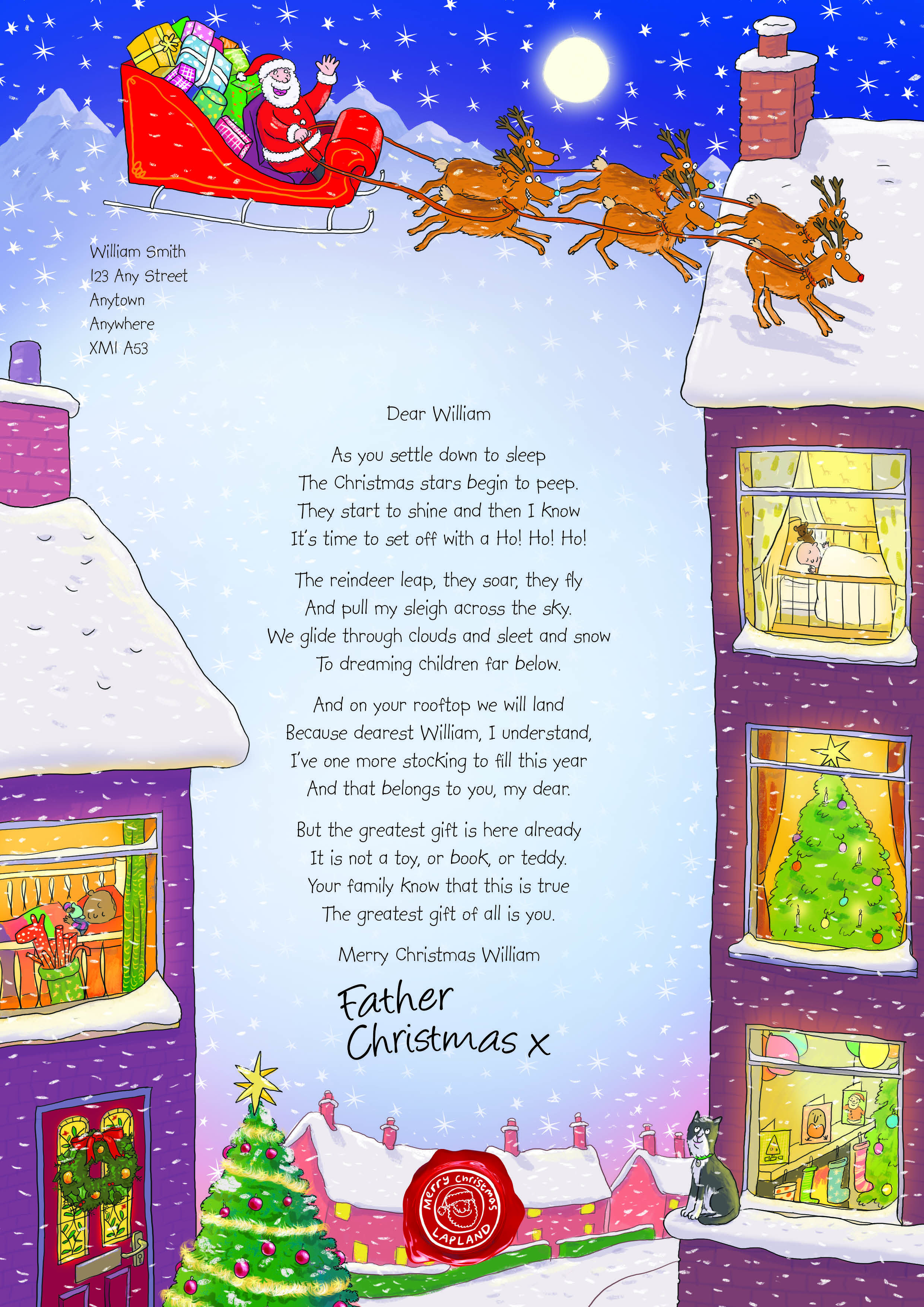 Nspcc Letter From Santa   BabyS First Christmas  Callen