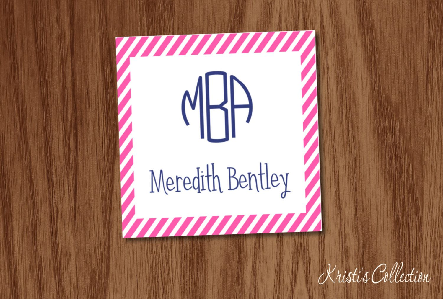 Monogrammed striped calling cards stickers personalized personal monogrammed striped calling cards stickers personalized personal business cards gift inserts tags enclosure cards girls gift tags colourmoves