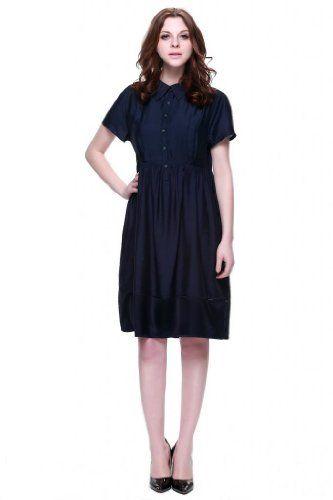 Zuri Zuri By Flora Women's Casual Fit and Flare Dress Medium Blue Zuri Zuri By Flora