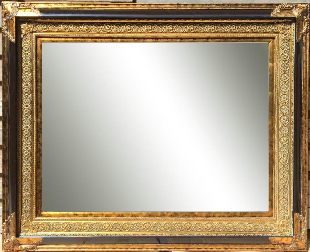 Espejo biselado estilo cl sico con marco en madera modelo for Espejo envejecido precio