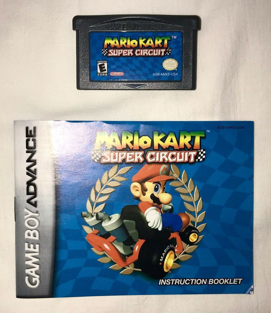 Mario Kart Super Circuit Nintendo Game Boy Advance 2001 Great