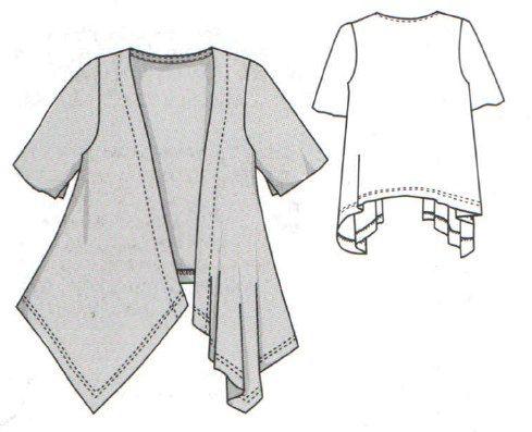 Free Sewing Pattern Knit Fabric Jacket Document Vk Knit