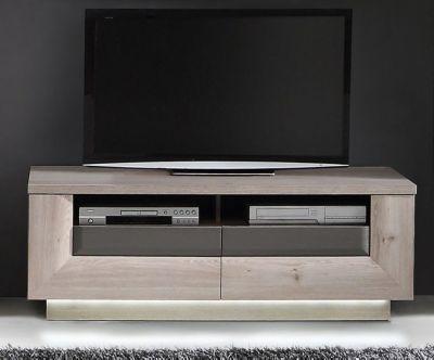 TV-Unterteil Nelsoneiche  Eiche grau mit Beleuchtung Jetzt - wohnzimmer eiche grau