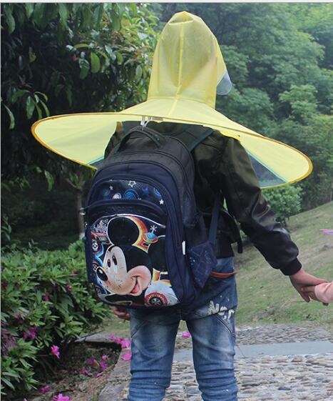 6c84694f4e5f Creative Raincoat Umbrella Headwear Hat Cap Fishing Golf Child T ...