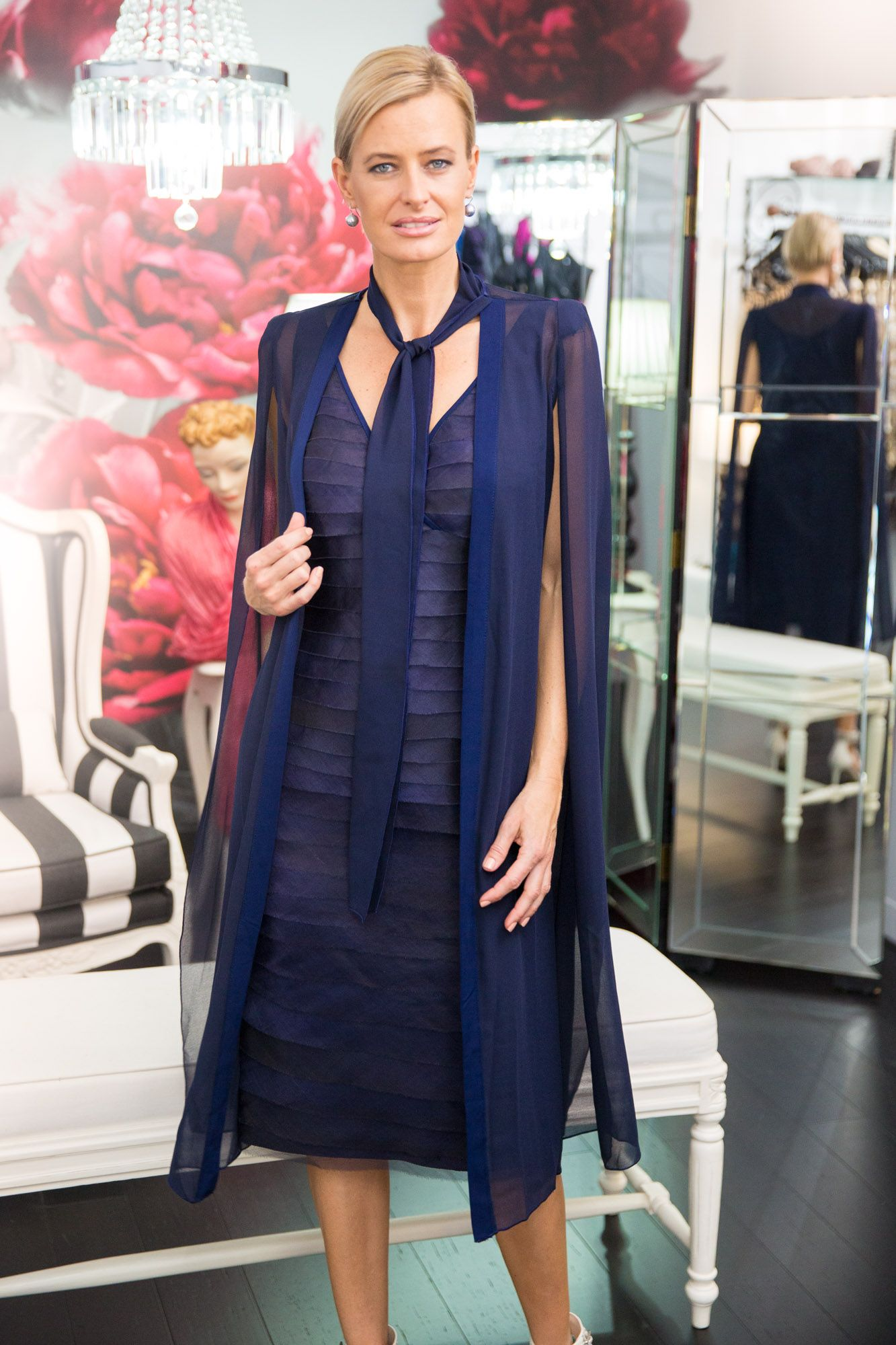 0ff2f89f017e The Oasis Dress and Coat in navy blue is an elegant two piece outfit option  for the modern #motherofthebride and #motherofthegroom. For ladies looking  for a ...