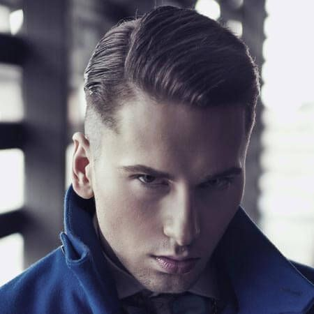 slick hair style slicked back mens hair with side part hair amp beard 2222 | f0d3acab47499ef282a2d0a52a7f5274