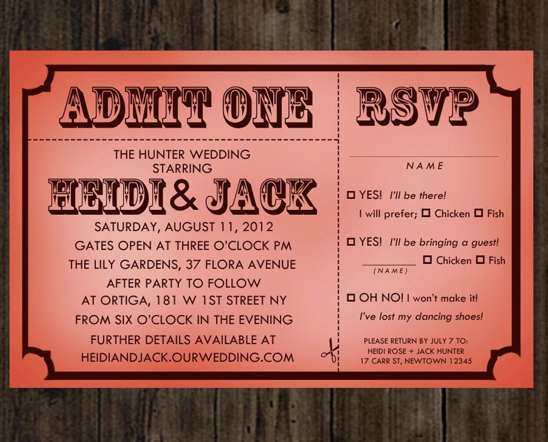 Admit one | Wedding Invitations | Pinterest | Kraft envelopes, Ink ...