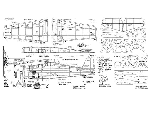 Soda Can F6F Hellcat Plans