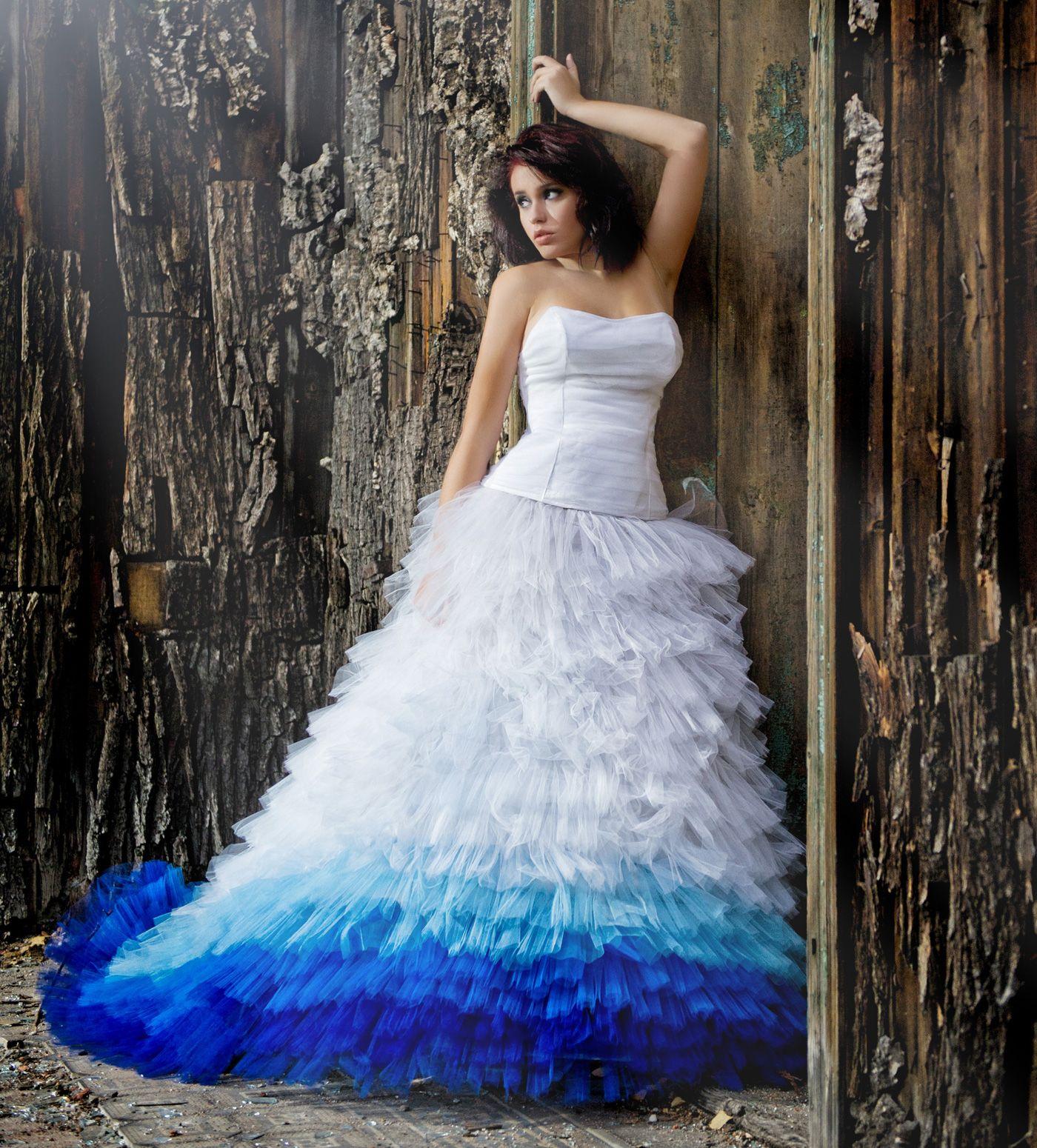 WOW - so farbenfroh können weiße Brautkleider sein! | Farbenfroh ...