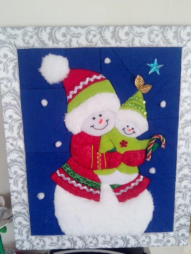 Patchwork sin aguja cuadros de patchwork pinterest for Cuadros de navidad