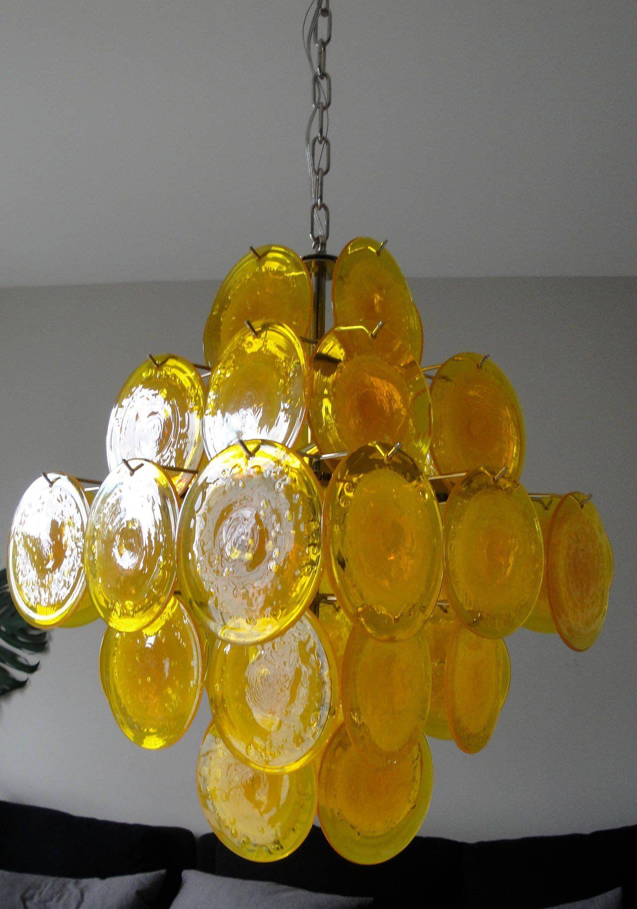yellow Murano Glass Chandeliers | Arte decorativo 1 - Art Decorative ...