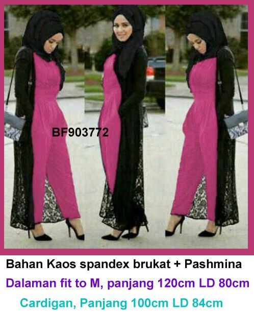 Baju Gamis Modern Terbaru Detail Produk Model Jumpsuit Muslim