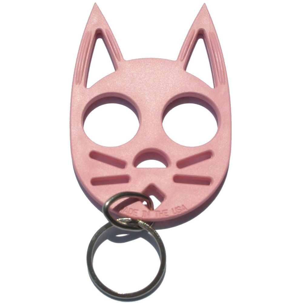 Self Defence Key Ring Self Defense Keychain Cat Lady Gift Self
