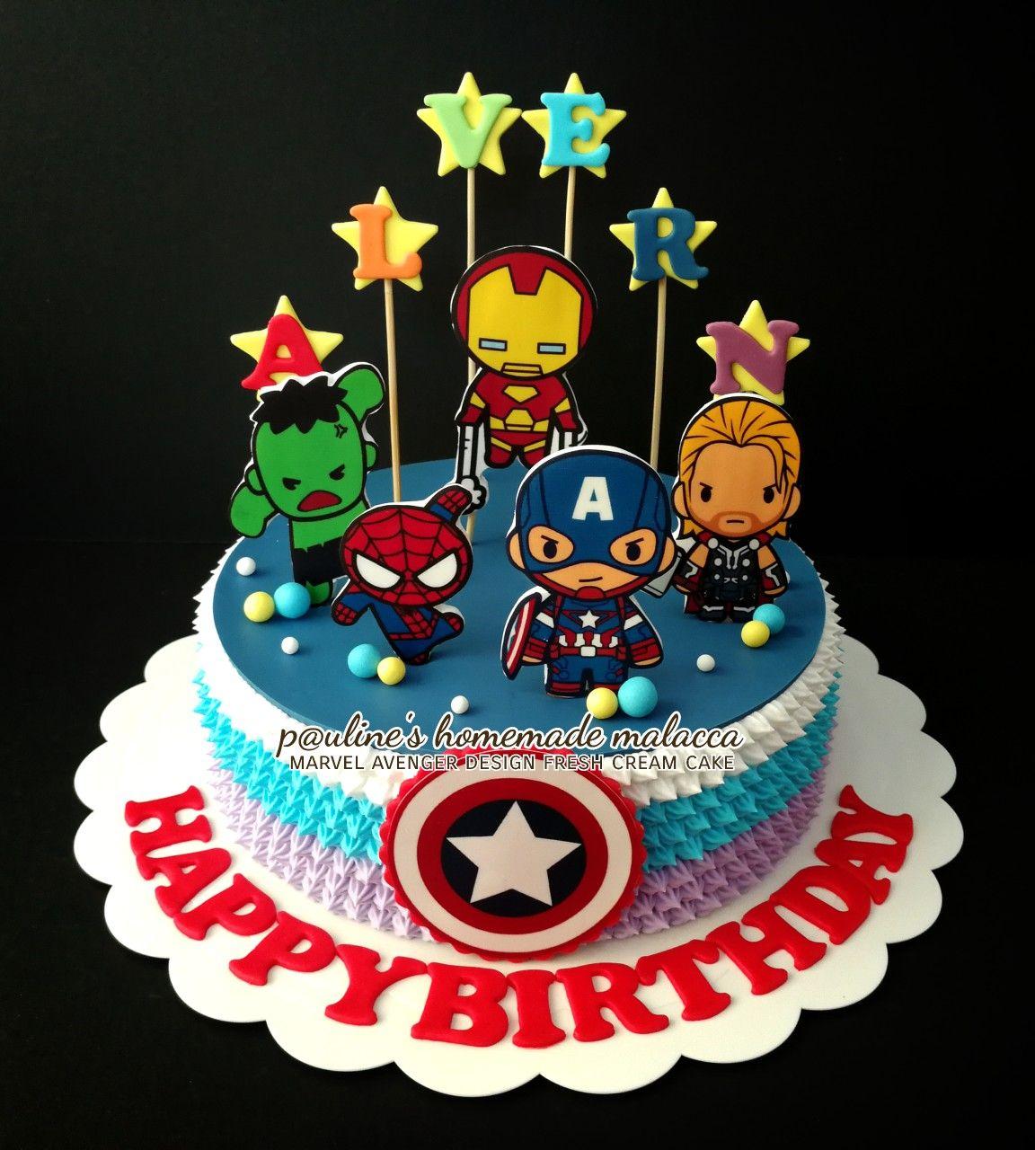 Marvel Avenger Edible Image Fresh Cream Cake Avenger Cake Cake Fresh Cream,Short Hair Design For Wedding Party