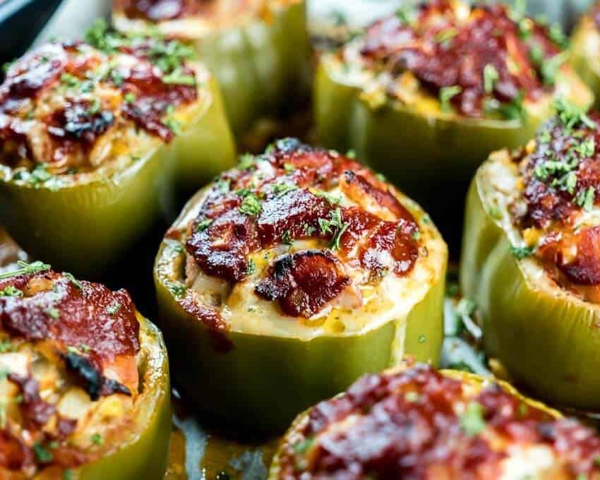 Easy Low Carb Keto Meatloaf Stuffed Peppers Recipe Stuffed Peppers Meatloaf Stuffed Peppers Stuffed Bell Peppers