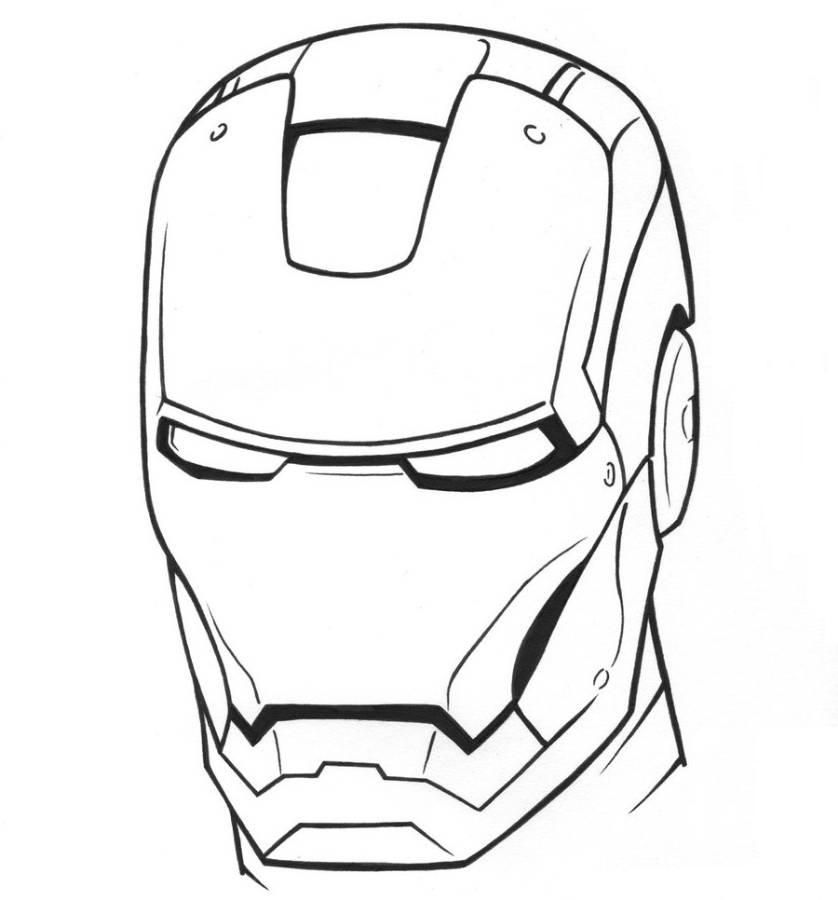 Download And Print Iron Man Coloring Pages Mask Iron Man Drawing