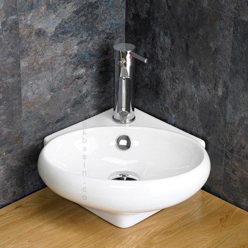 Cesena Ceramic Corner Wash Basin Sink Basin Corner Basin Countertop Basin