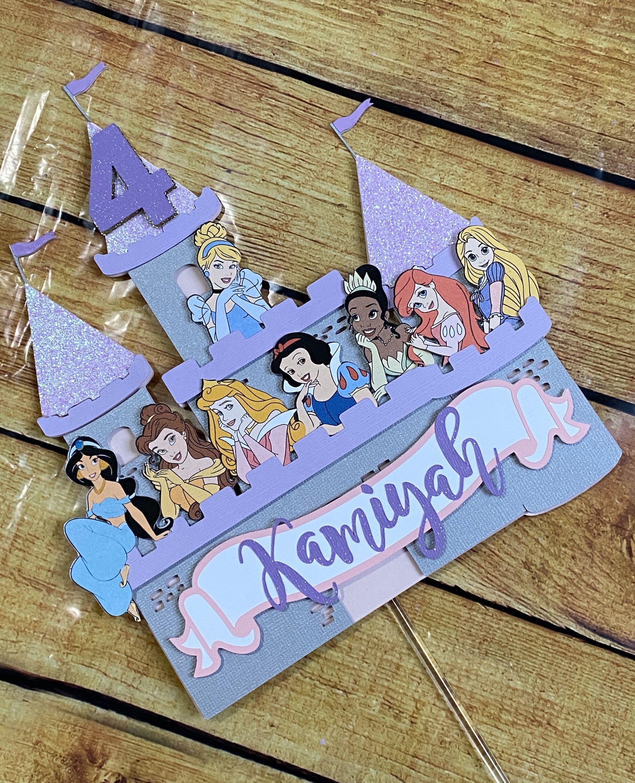 Disney princess cake topper disney princesses cake topper