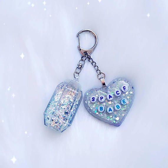 Glitter babe keychain