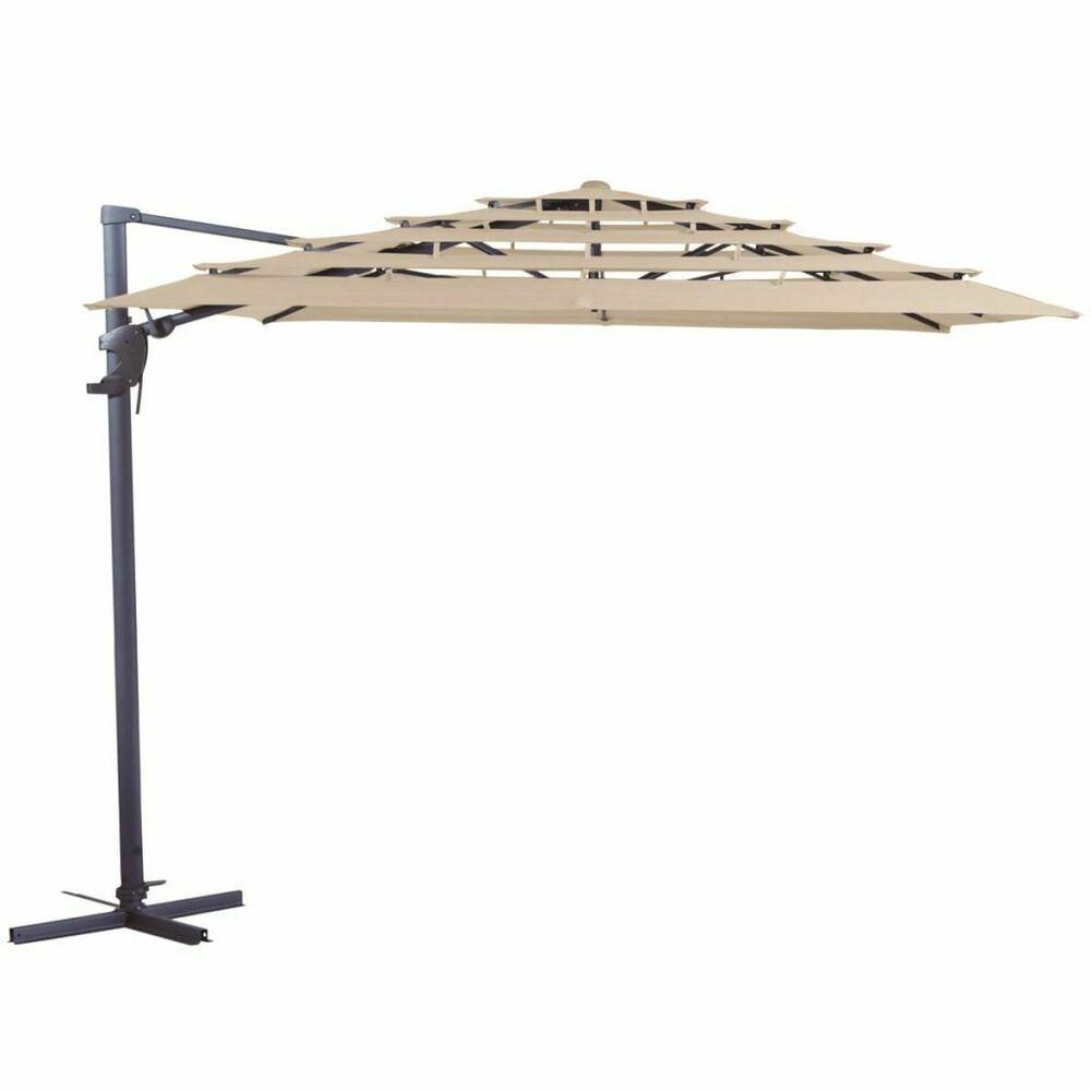 Madison Sonnenschirm 300x300cm Ecru Gartenschirm Ampelschirm Marktschirm⺠#sonnenschutzterrasse