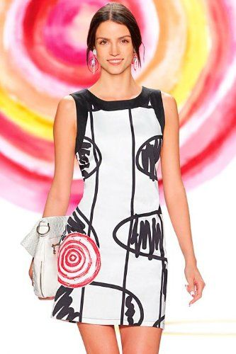 Robe Femme Amazon promo robe pas cher, achat Desigual Aume Robe Sans manche  prix promo Amazon 99,00 € TTC 0ab3dc96fe48