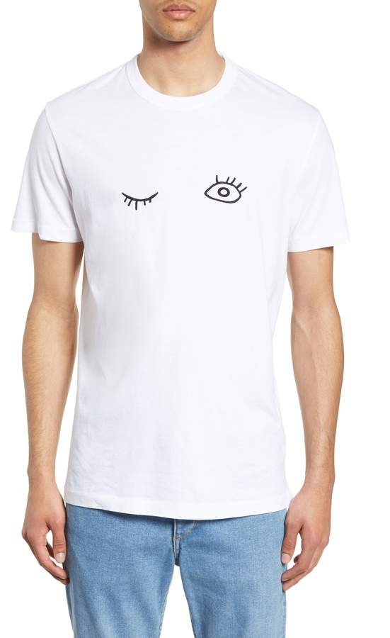 389b6139cfe French Connection Wink Embroidered T-Shirt | Products in 2019 | Mens ...