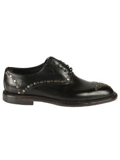 Acheter En Ligne Pas Cher Sortie Grand Escompte Dolce & Gabbana Marsala Leather Oxford Shoes - Black Prix Incroyable En Ligne QQwJXJDNy