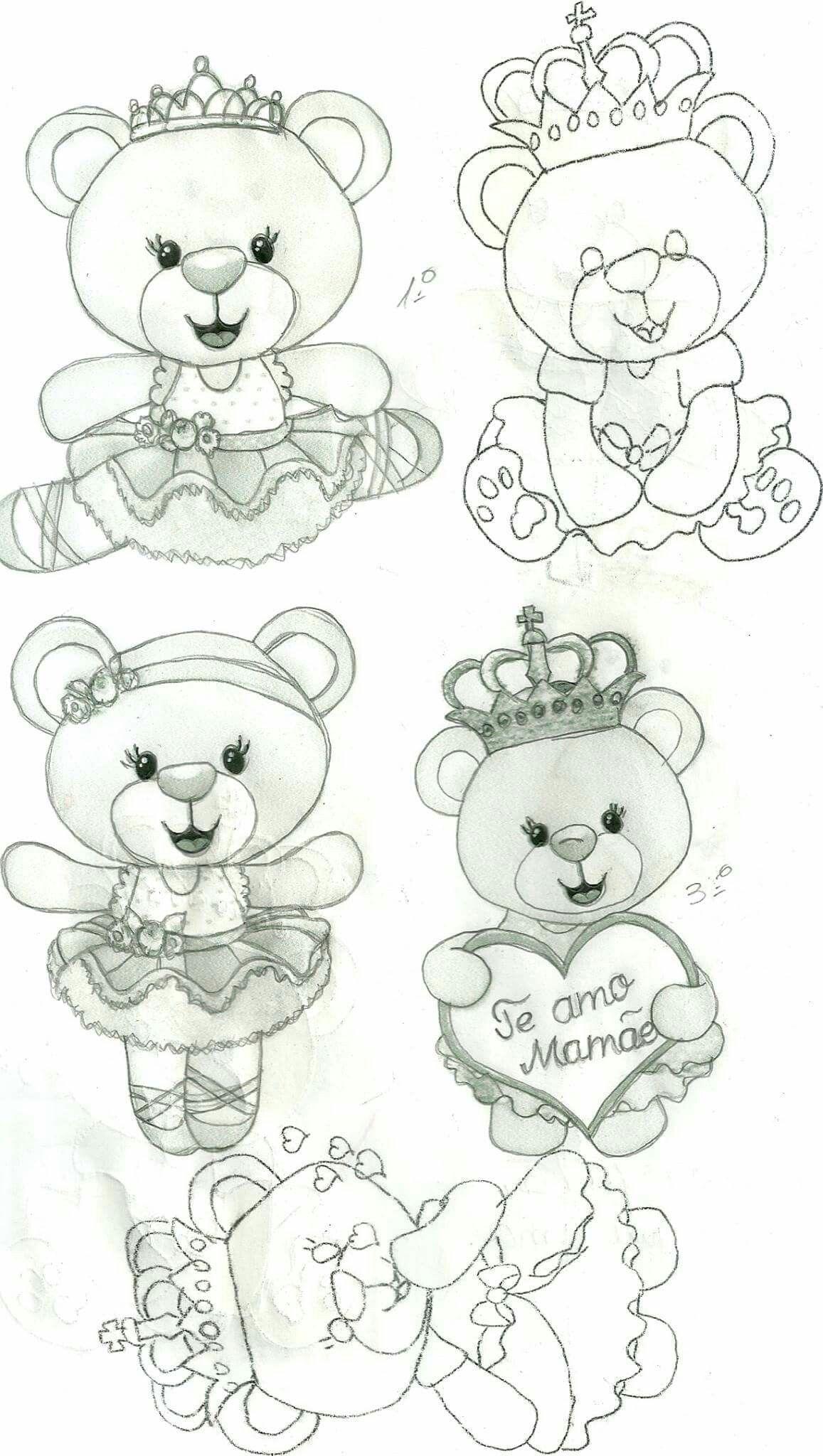 imagens boca de urso para colorir