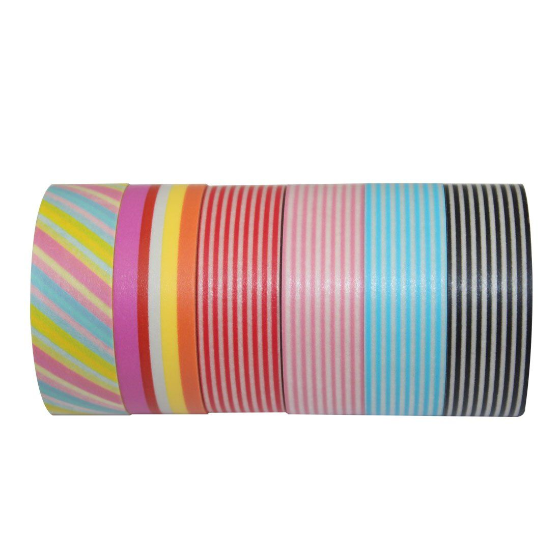 Decora set of 6 japanese linelae washi masking tape