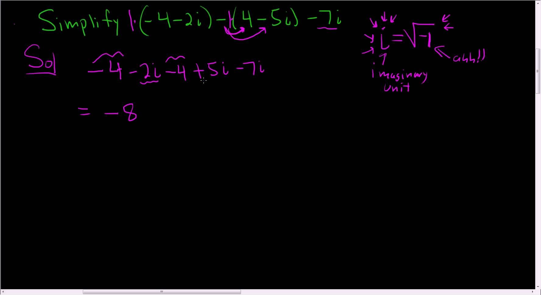 Adding And Subtracting Complex Numbers Example 2