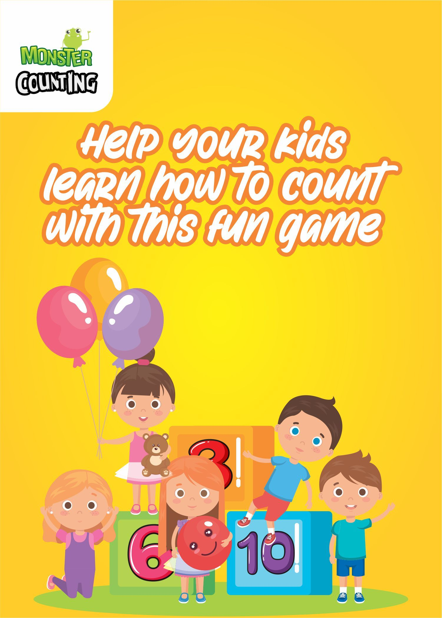 Make counting a fun activity for your kid with this