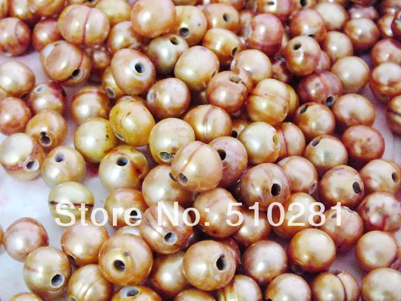10-11mm 2.5mm hole 200pcs/lot Loose Freshwater Rice Pearl, Free Shipping No-515 $49.99