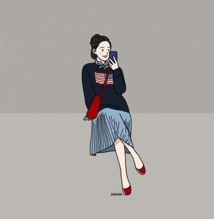 Fashion girl drawing artworks 45+ super Ideas