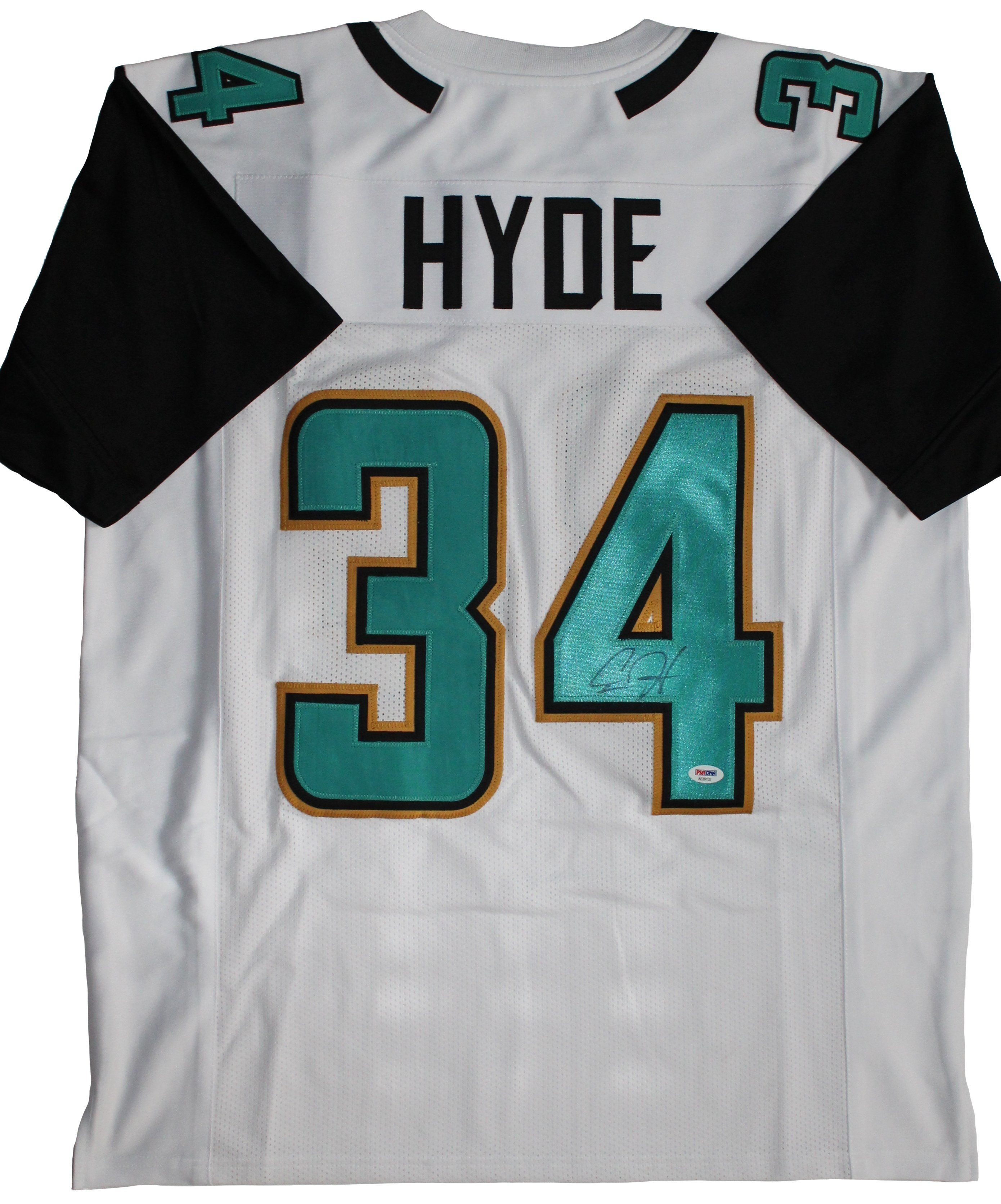 buy popular 66849 1de19 Carlos Hyde Signed Jacksonville Jaguars Jersey in 2019 ...
