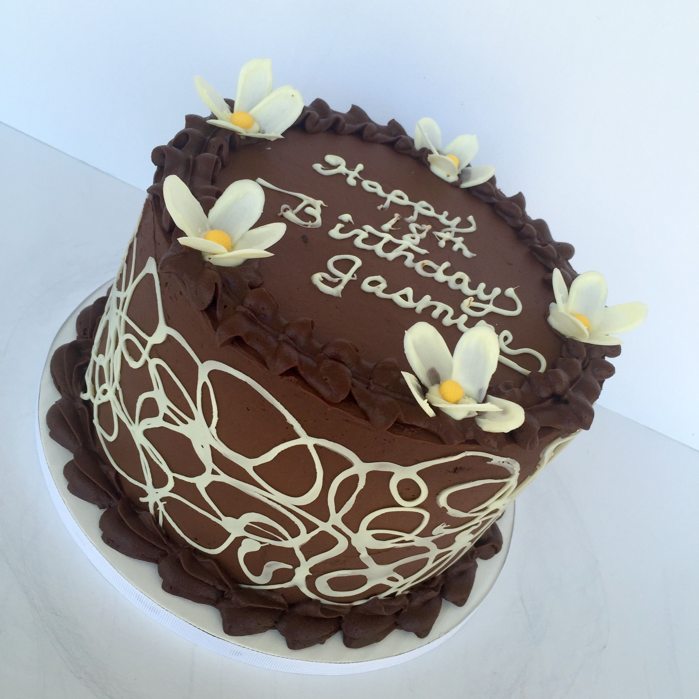 Happy Birthday Jasmine????. Death by Chocolate | My Cake Creations ...