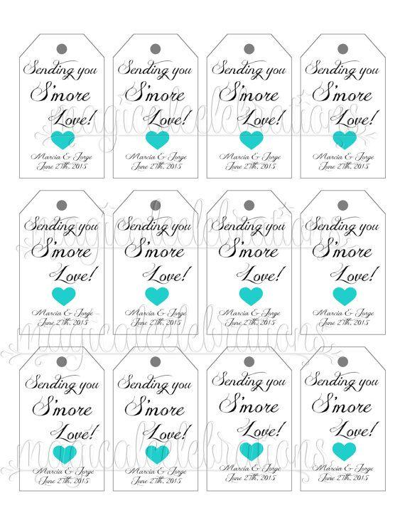 Beautiful printable tags for wedding favors photos styles smores favor tags smores wedding tags weddings smore wedding negle Choice Image