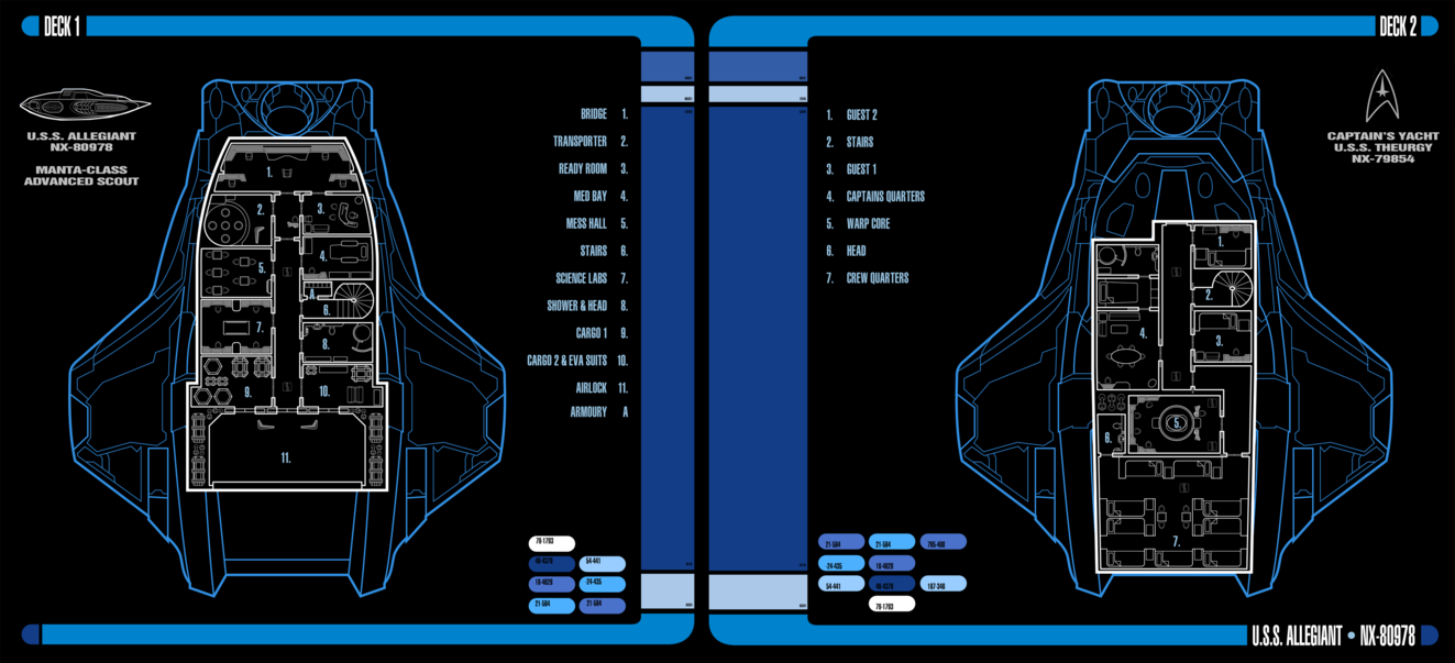 This is an LCARS deck layout view of the Theurgy's Captain's Yacht