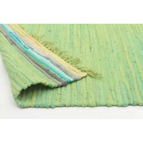 Ocean Jasmine Hand Braided Green Rug