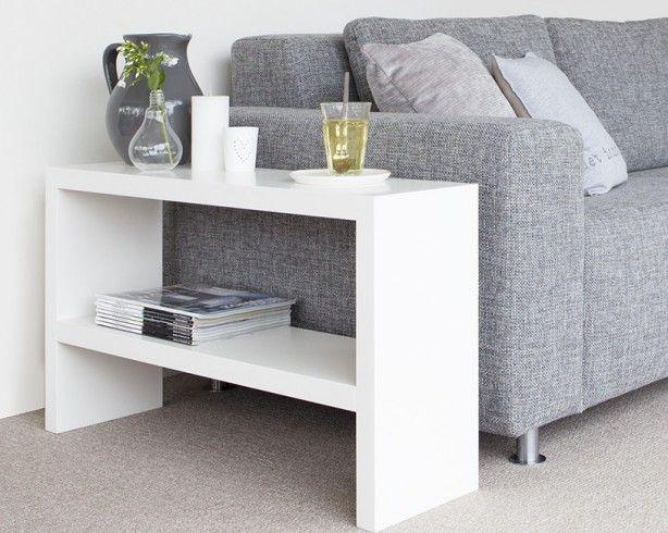 Smalle Witte Sidetable.Handige Side Table Voor Naast De Bank In Alle Gewenste