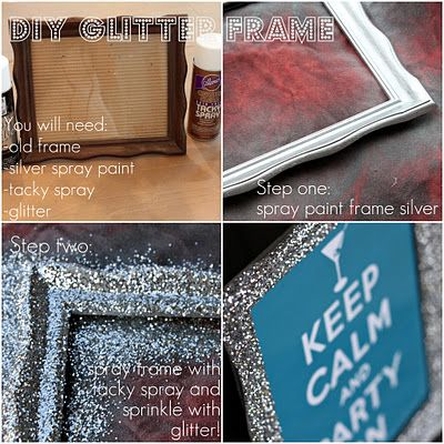 DIY Glitter frame..... totally made one of these for a \