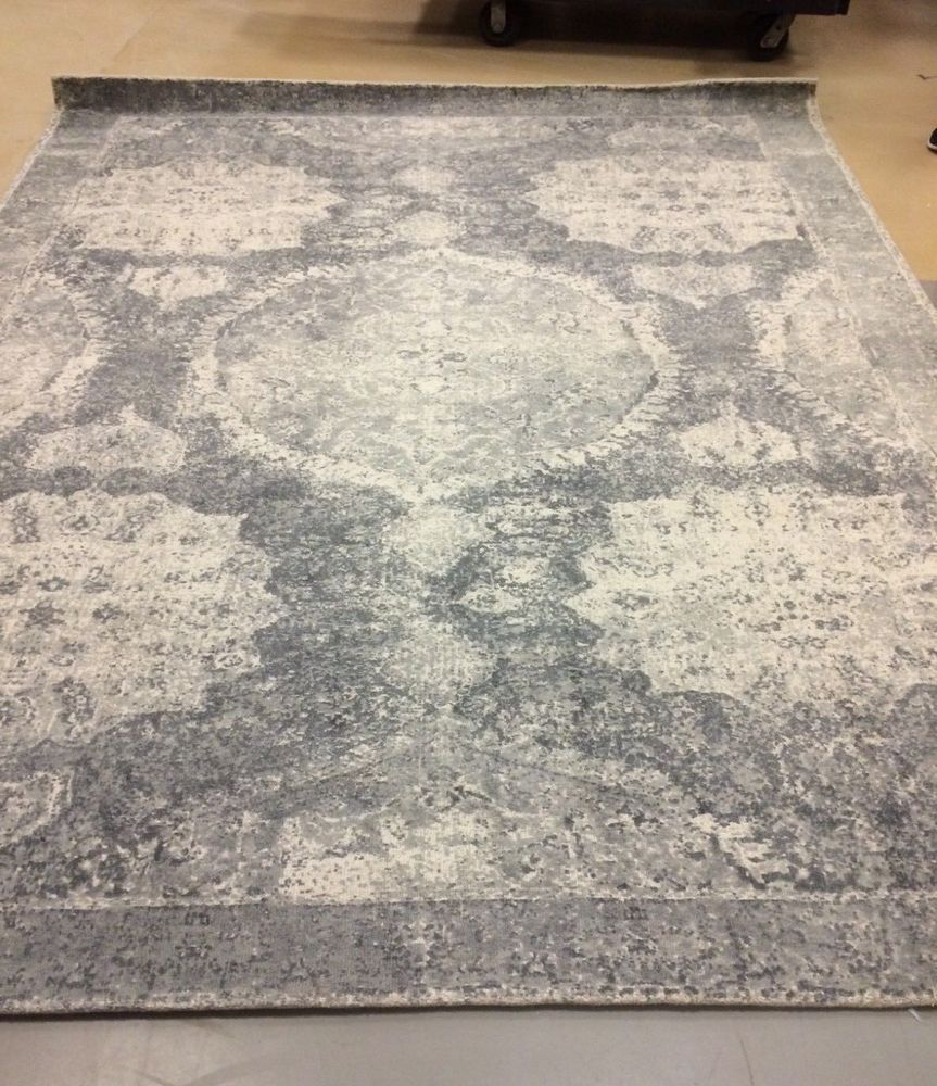 Pottery Barn Barret Printed Wool Rug 8x10 New W Factory Tags Free Shipping Potterybarn