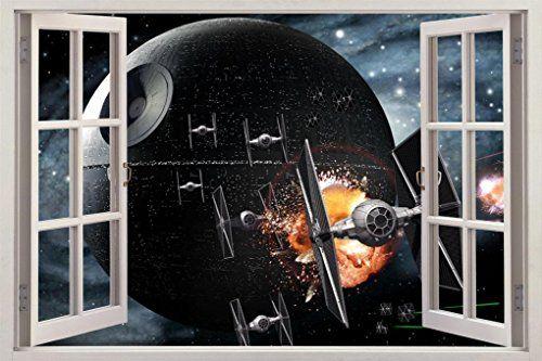Star Wars DEATH STAR 3D Window View Decal WALL STICKER Home Decor Art Mural C647, Huge Dizzy http://www.amazon.com/dp/B00YN72YSM/ref=cm_sw_r_pi_dp_gTT2vb0MNDC31