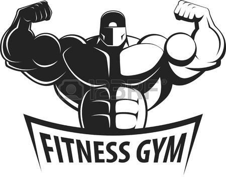 stock vector in 2020  gym logo bodybuilding big muscles