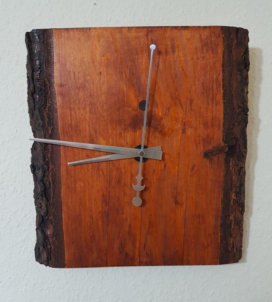 Rustikale Wanduhr rustikale edle holz wanduhr massiv holz handarbeit unikat vintage
