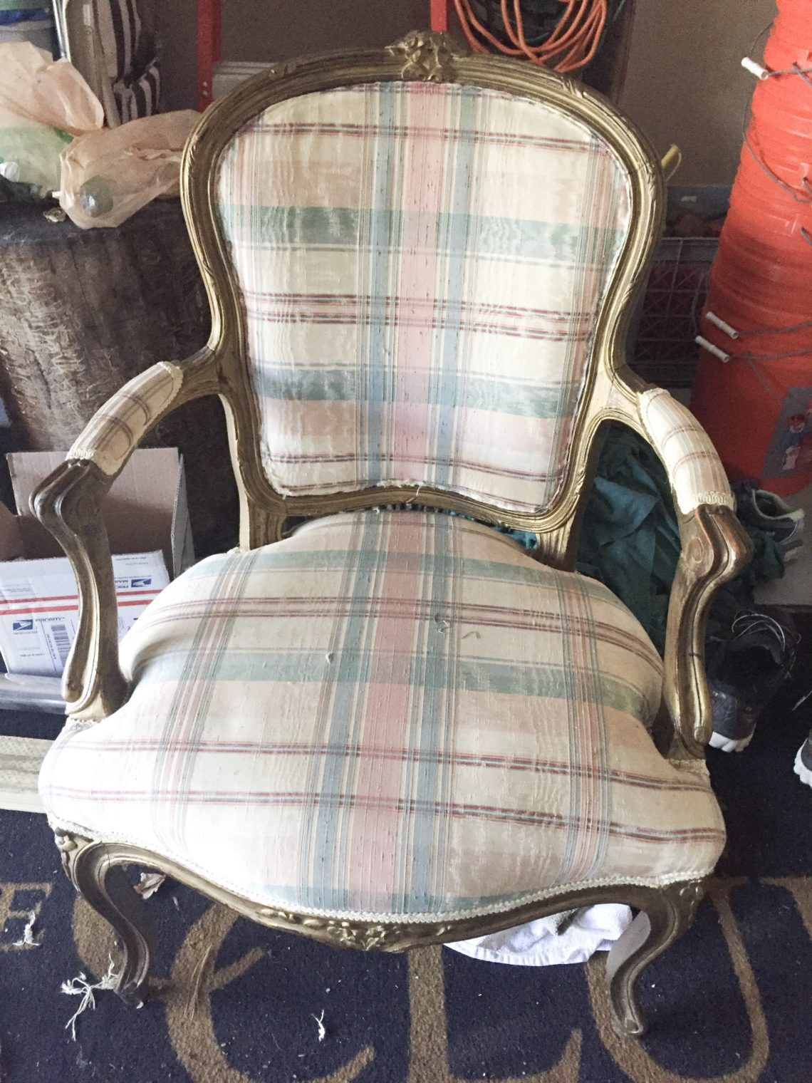 How to Stain, Paint and Reupholster a Chair Refinished